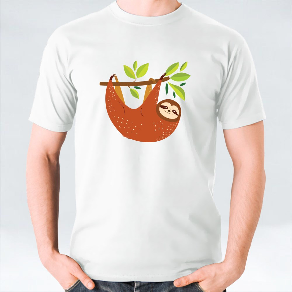 Colorful Leaves Sloth T-Shirts