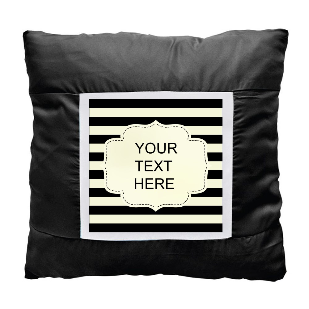 Cushions > Cushions (Square) > Black and White Line