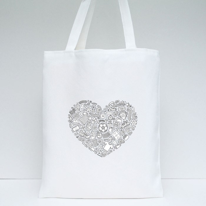 Love Doodle Soccer Tote Bags