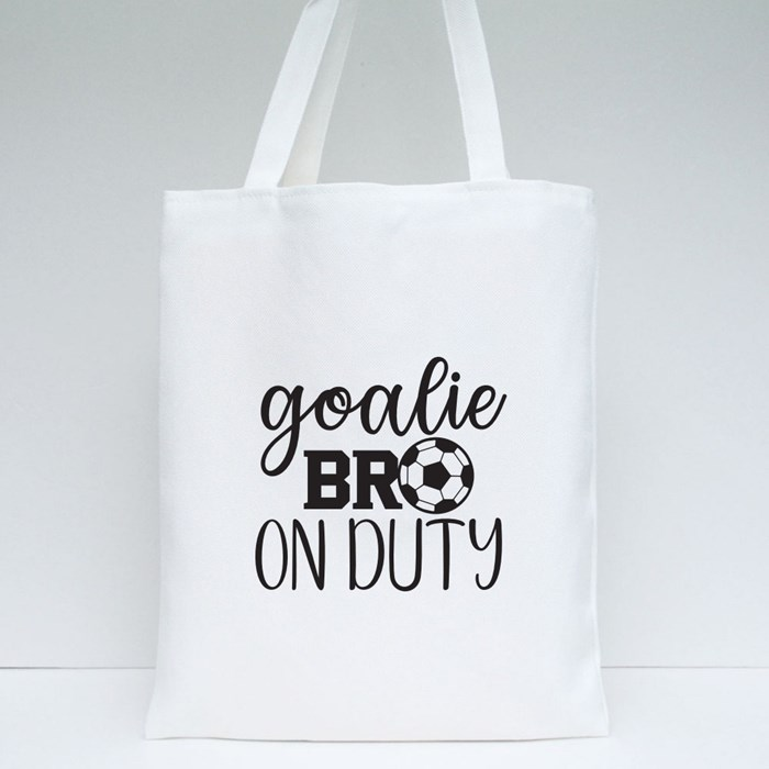 Goalie Brother on Duty Tote Bags