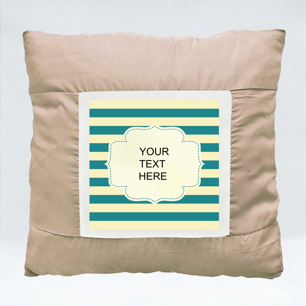 Cushions > Cushions (Square) > Blue and Yellow Line