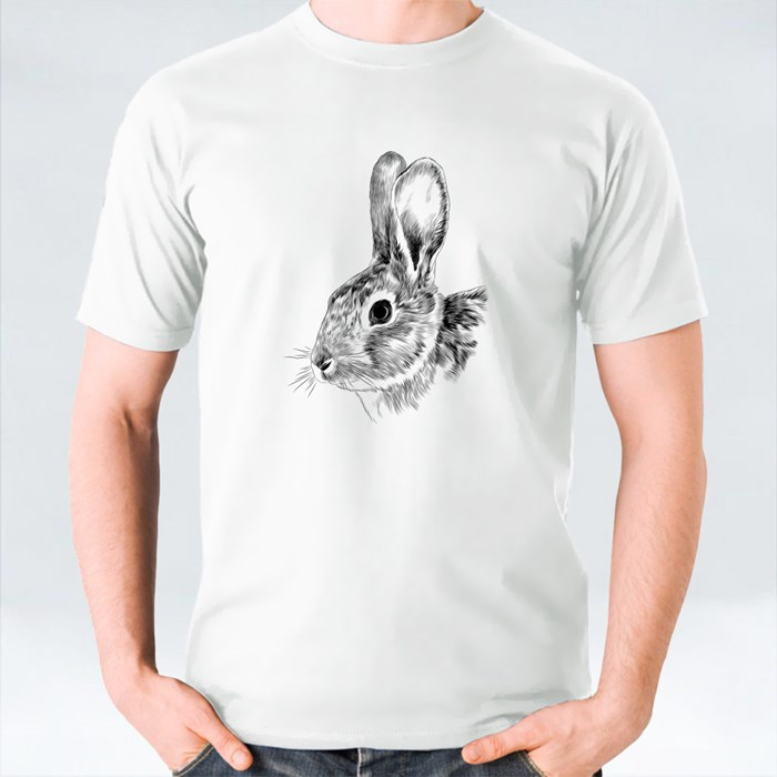 Bunny Head Sketch T-Shirts