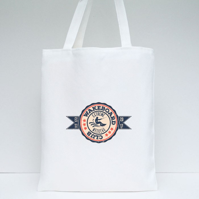 Vintage Vector Set of Surfing Logo 1 Tote Bags