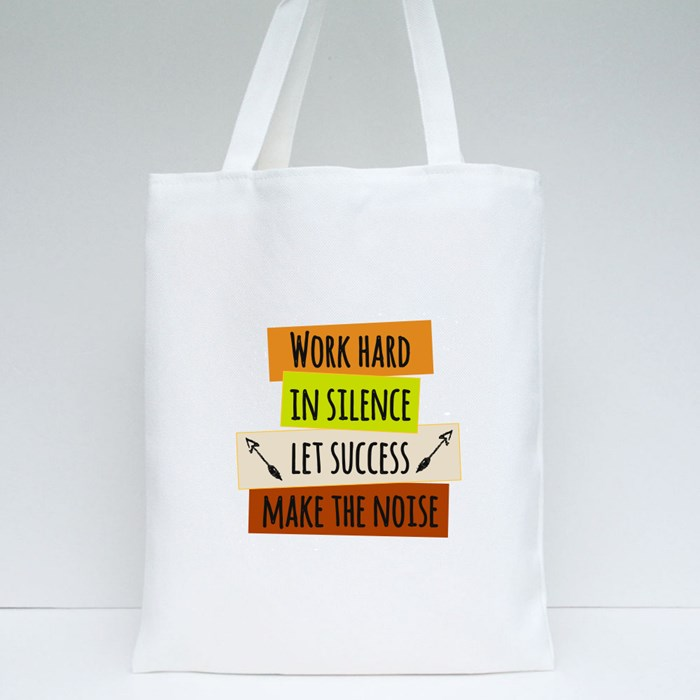 Colorful Typographic Motivational Tote Bags