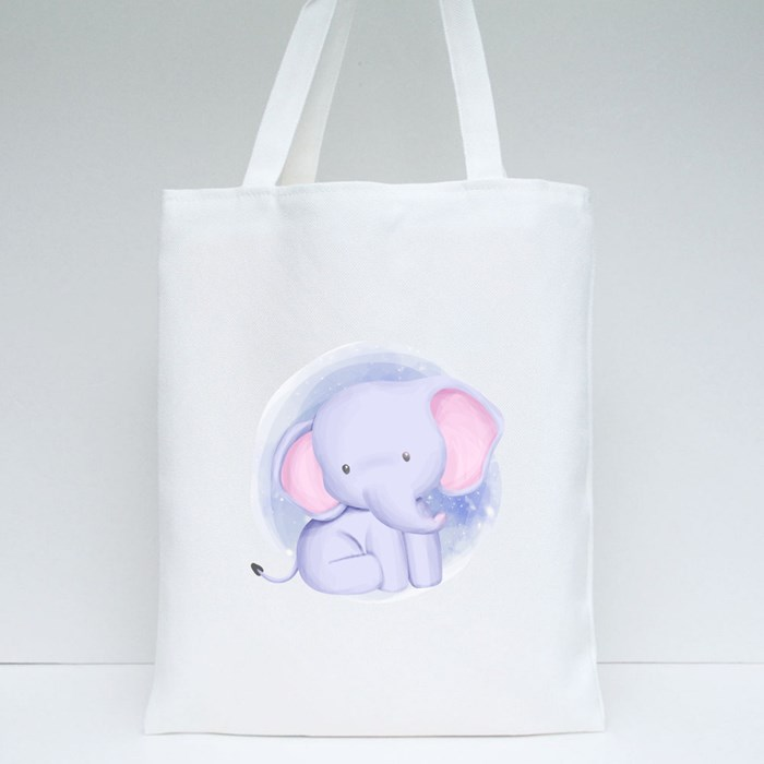 Baby Elephant Watercolor Tote Bags