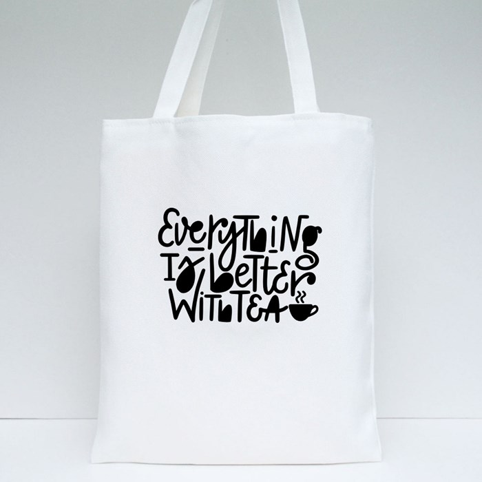 Tea Lover Nice Quote Tote Bags