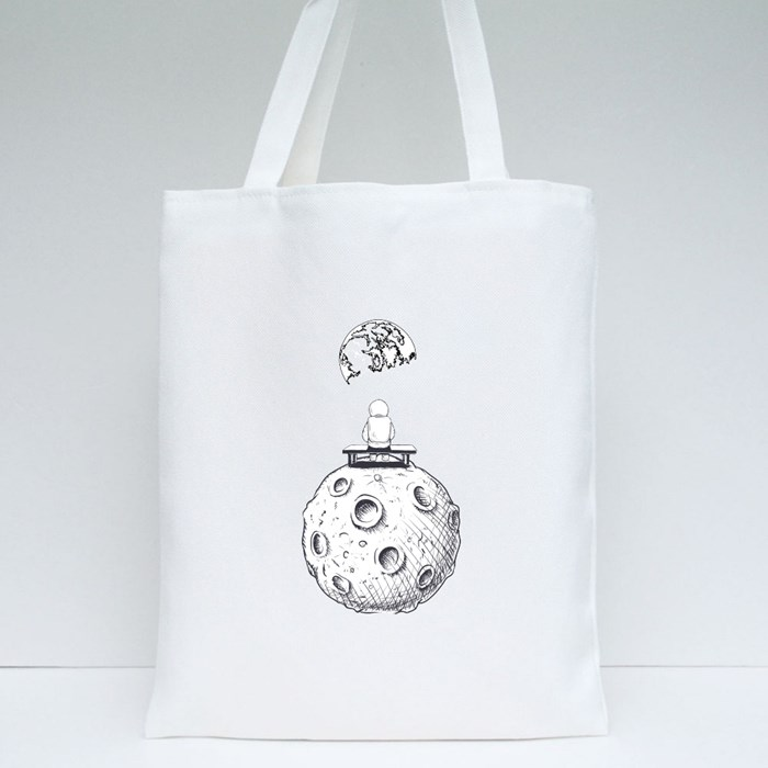 Lonely Spaceman Tote Bags