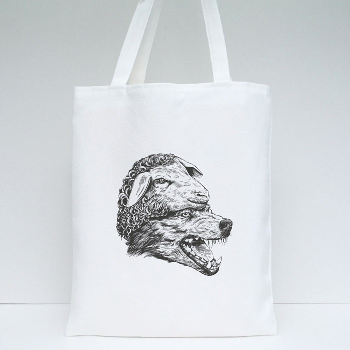 Wolf in Sheep Clothing Tote Bags