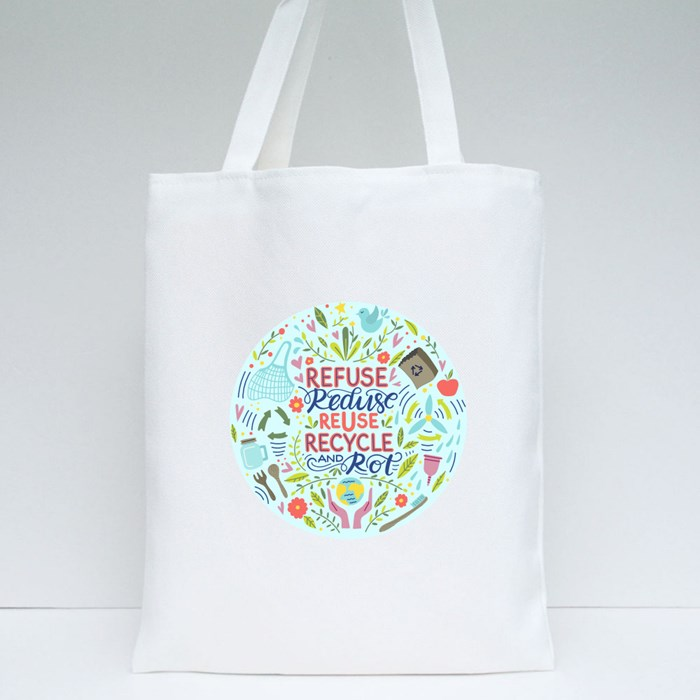 Reuse Recycle Reduce Cicle Tote Bags