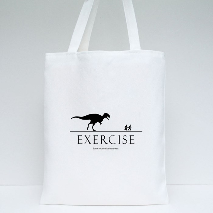 Motivation Dinosaurs Design Tote Bags