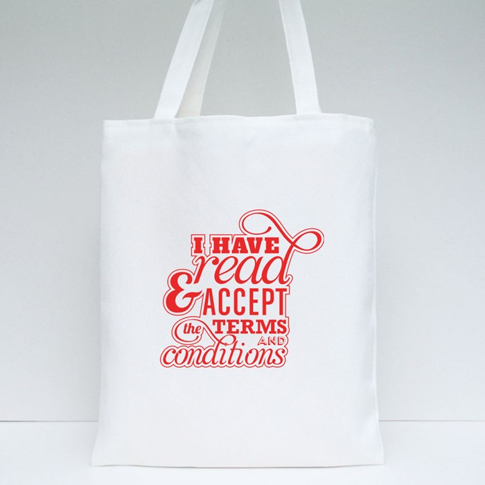 Read Term and Conditions Tote Bags