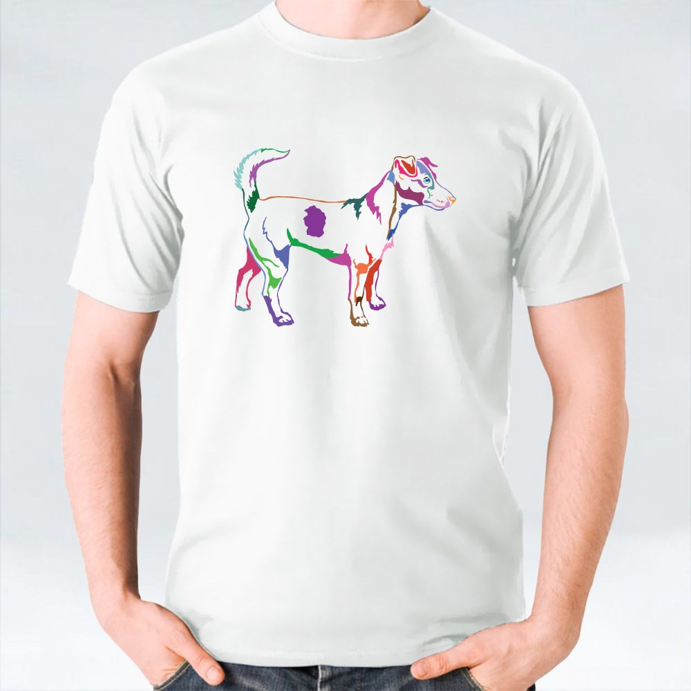Decorative Potrait of Jack Russell Terrier T-Shirts