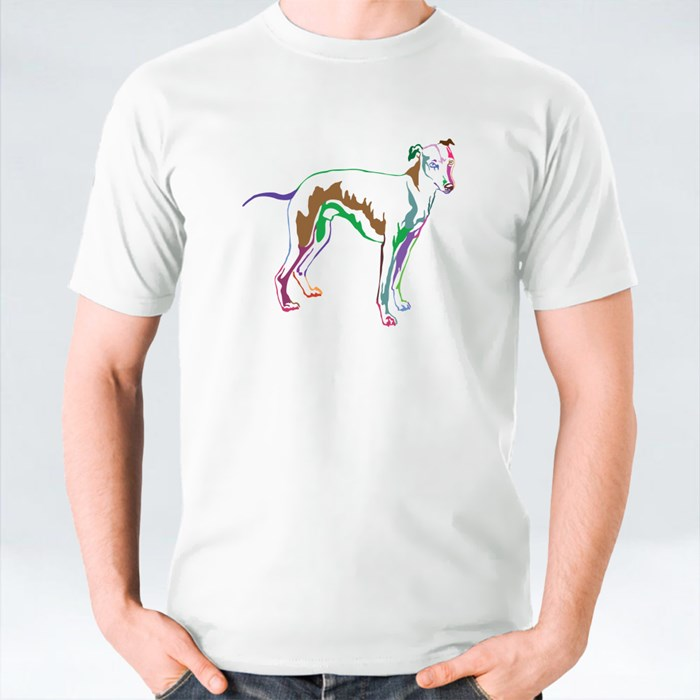 Decorative Potrait of Whippet Sight Hound T-Shirts