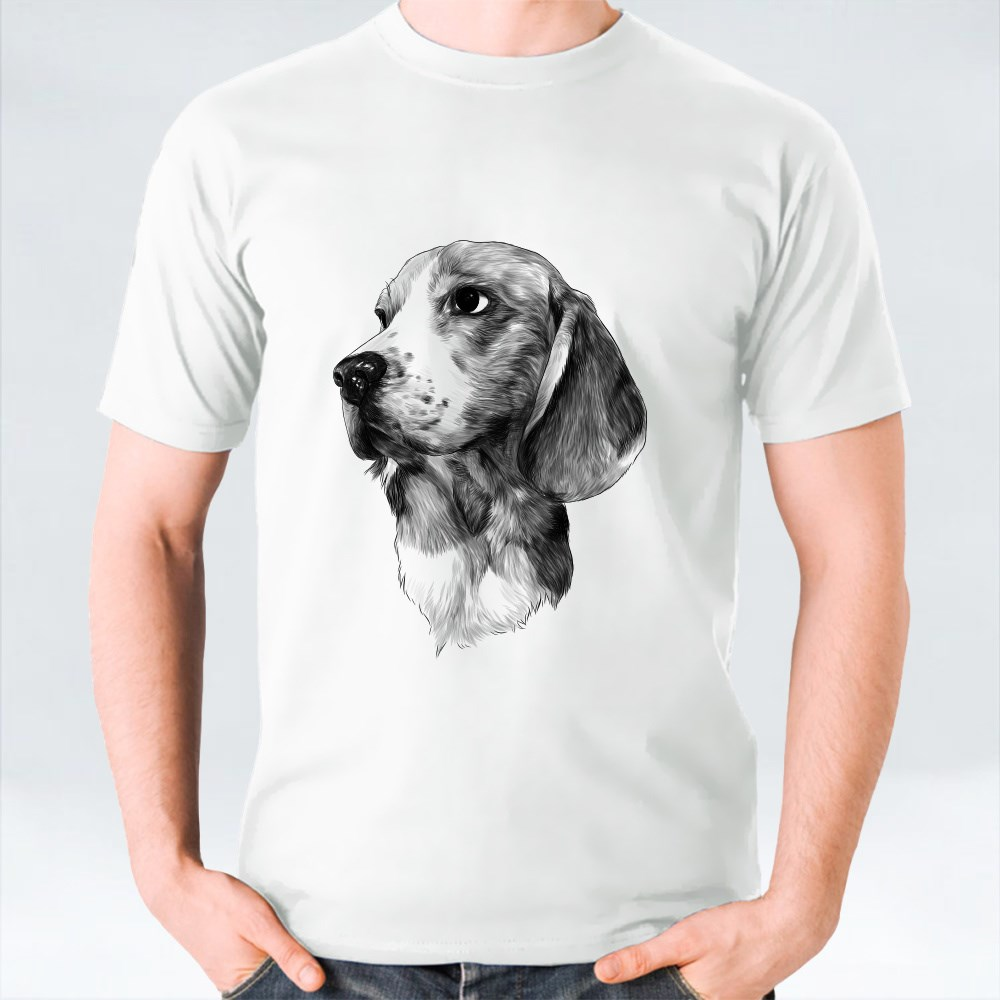 Dog Breed Beagle Head T-Shirts