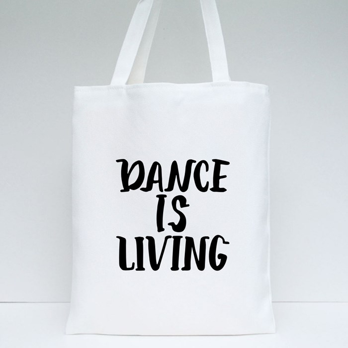 Lettering Quotes About Dance Tote Bags