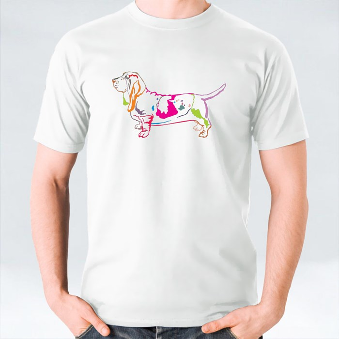 Decorative Potrait of Basset Hound T-Shirts