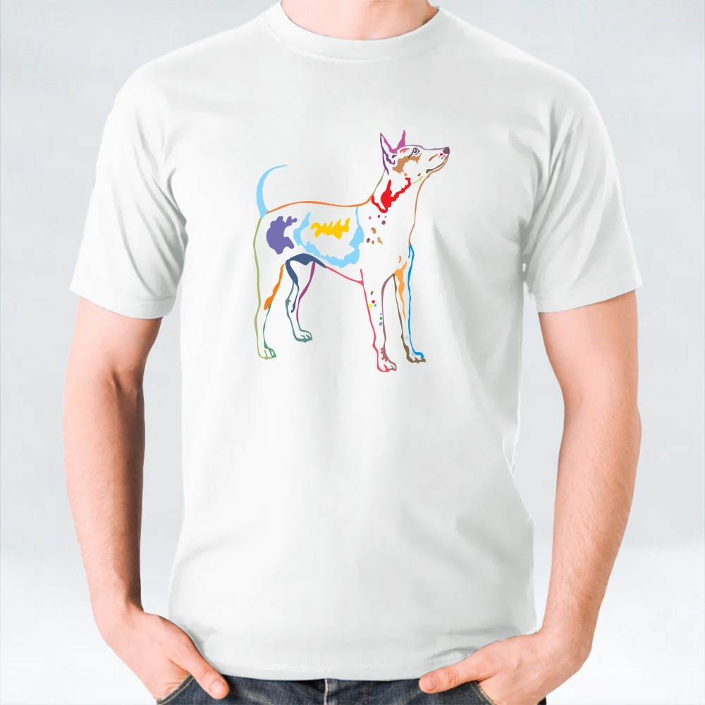 Decorative Potrait Of American Hairless Terrier T-Shirts