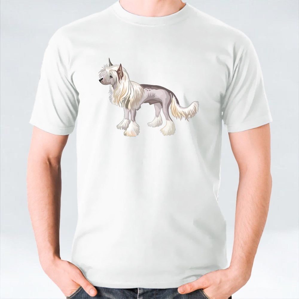 Potrait Of Chinese Crested Dog T-Shirts