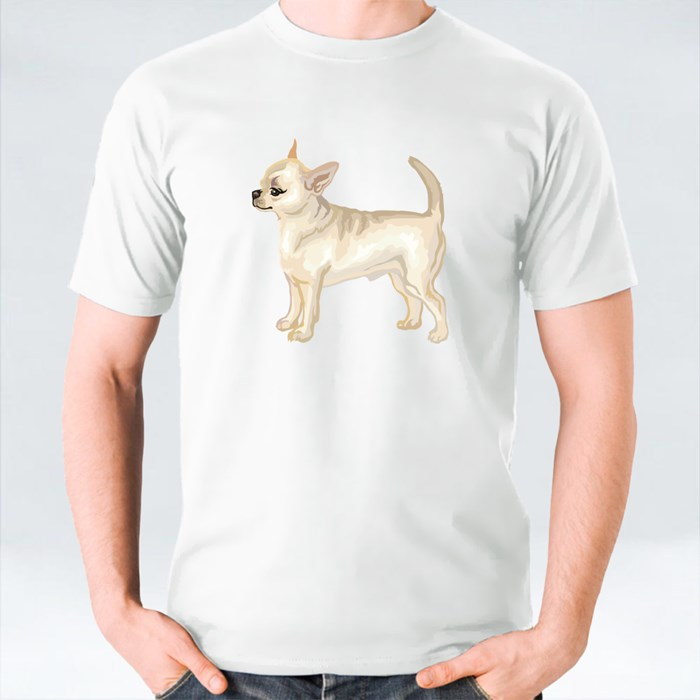 Potrait of Haired Chihuahua T-Shirts