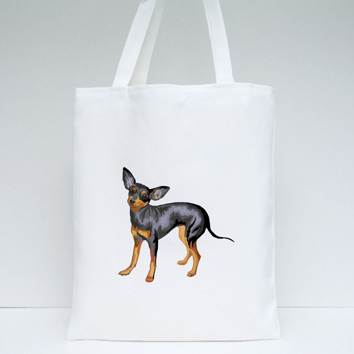 Potrait of Prague Ratter Tote Bags