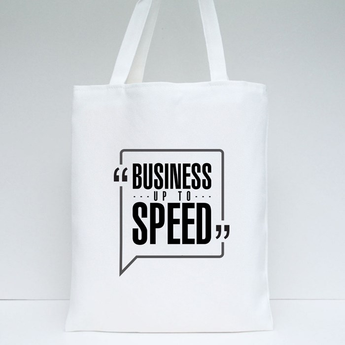 Business up to Speed Tote Bags