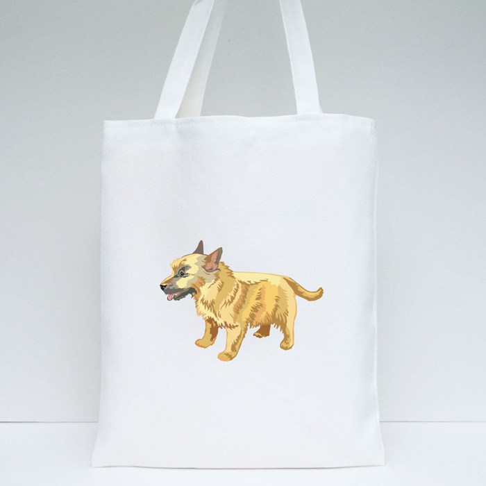 Potrait of Norwich Terrier Tote Bags