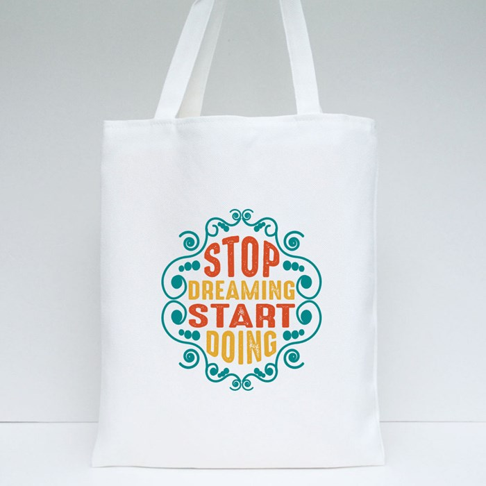 Motivation Quote Tote Bags