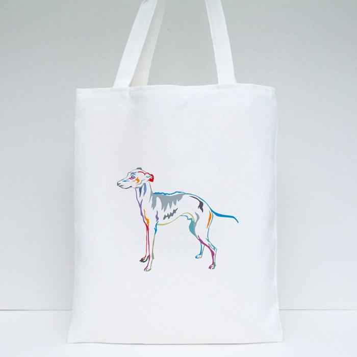 Decorative Potrait of Italian Greyhound Tote Bags