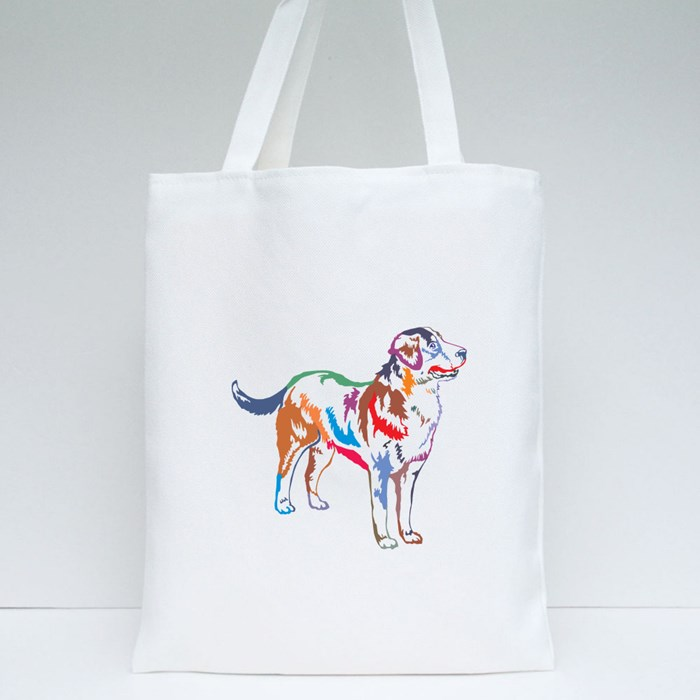 Decorative Potrait of Greater Swiss Mountain Dog Tote Bags