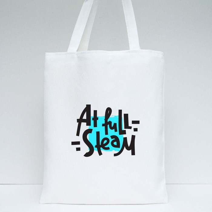 At Full Steam Tote Bags