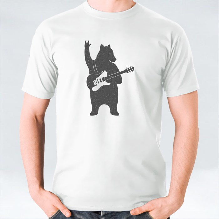 Bear With Guitar T-Shirts