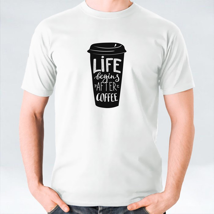 Quotes Lettering on Coffee Cups 2 T-Shirts