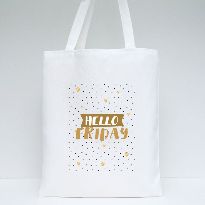 Hello Friday Tote Bags