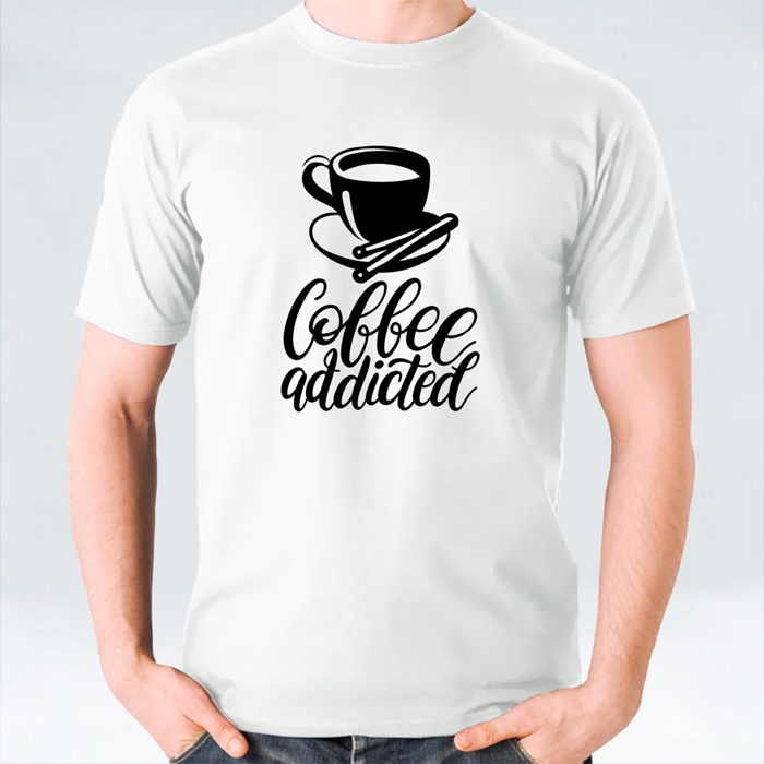 Typography With Cups and Kettle 2 T-Shirts