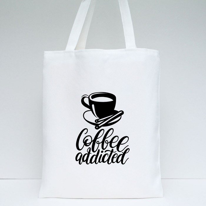 Typography With Cups and Kettle 2 Tote Bags