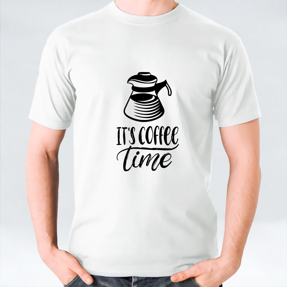 Typography With Cups and Kettle 4 T-Shirts