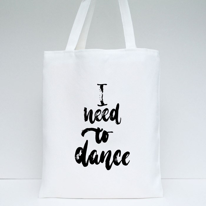 I Need to Dance Tote Bags