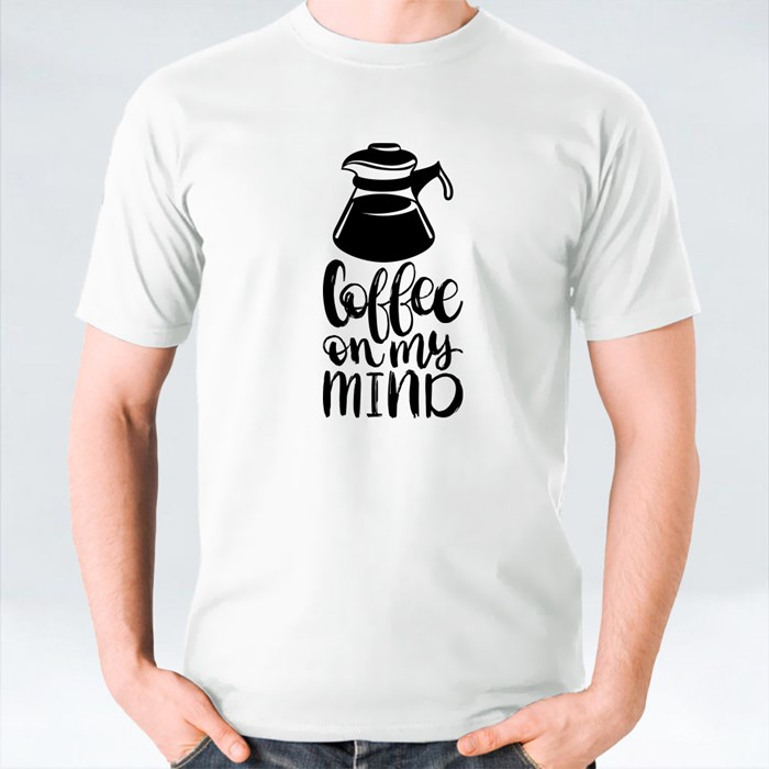Typography With Cups and Kettle 6 T-Shirts