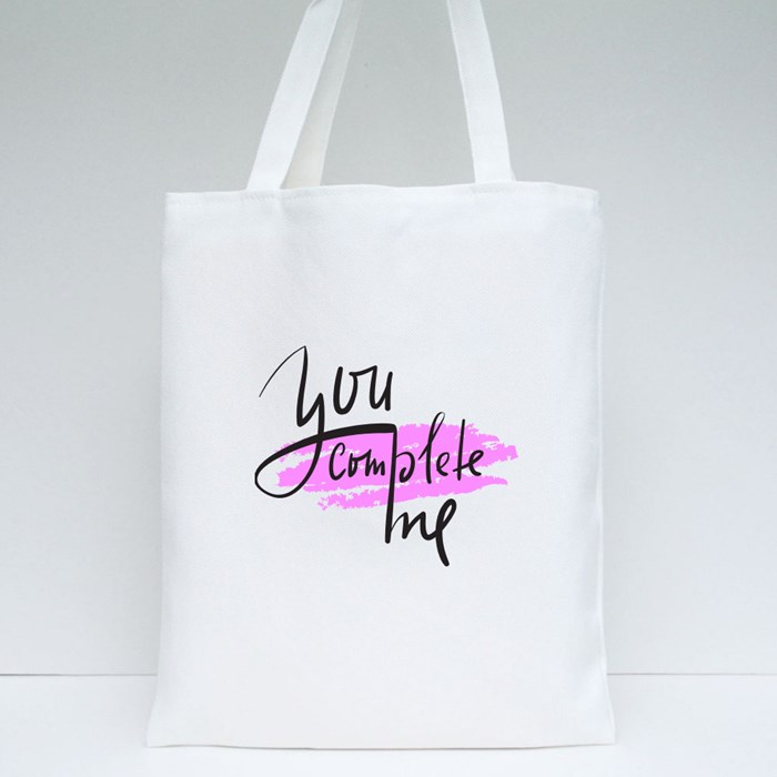 You Complete Me Tote Bags