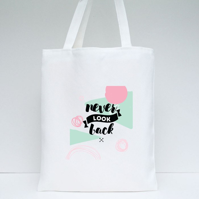 Never Look Back Tote Bags