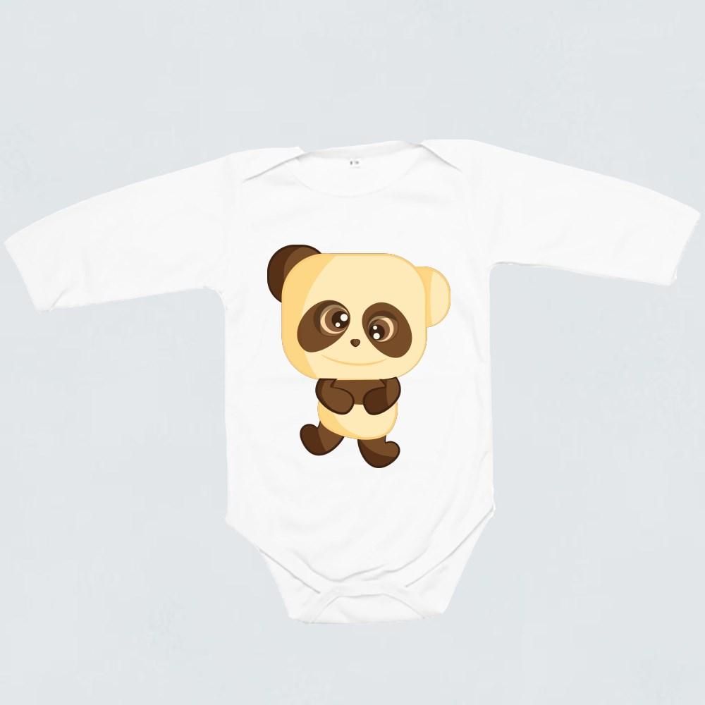 Baby Rompers > Baby Rompers (Long Sleeve) > Cute Panda Emoticons