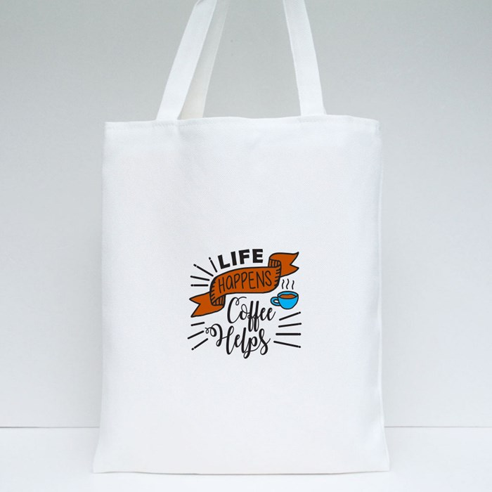 Funny Coffee Quotes and Saying 4 Tote Bags