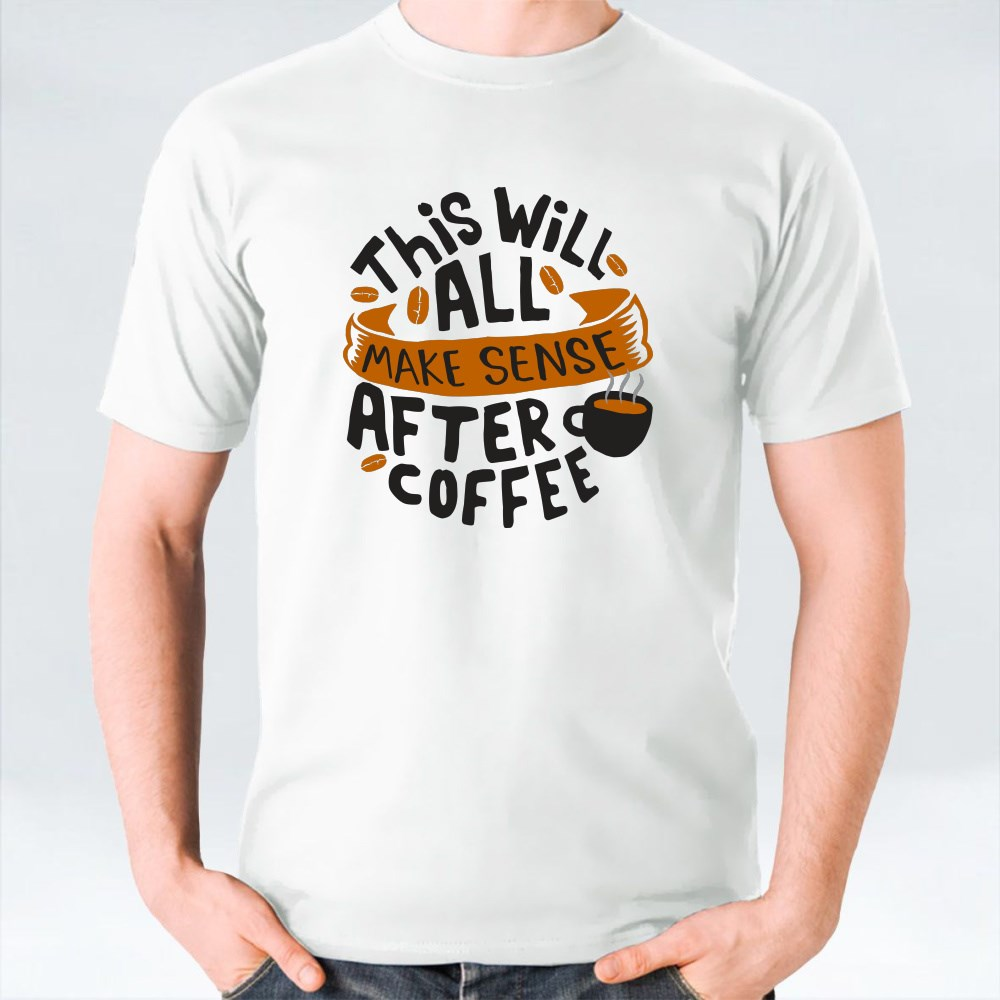 Funny Coffee Quote and Saying Bundle Sets 4 تي شيرت