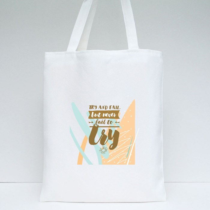 Try and Fail Tote Bags