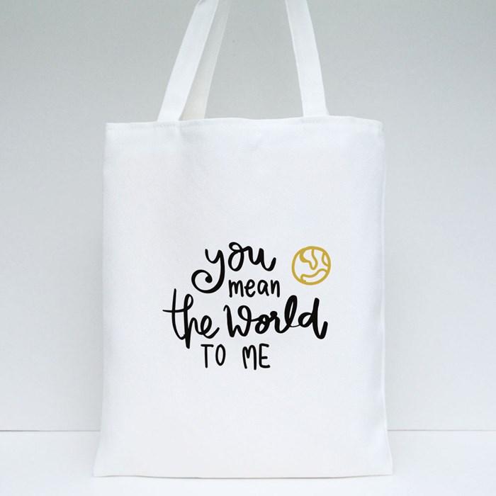 U Mean World Tote Bags