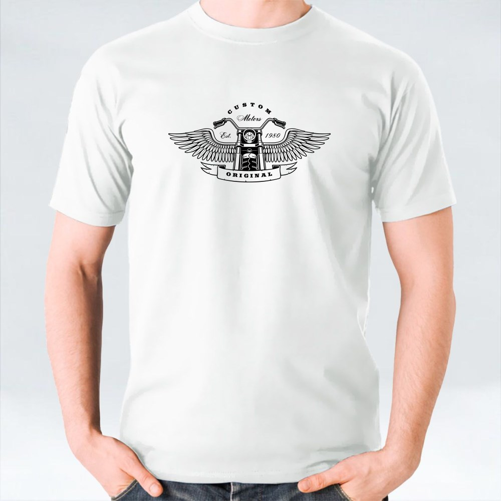Motorcycle With Wings Kaos
