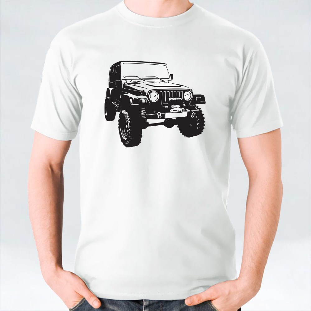 Offroad Vehicle in Black Colour T-Shirts