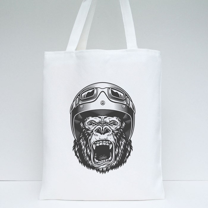 Angry Gorilla Tote Bags