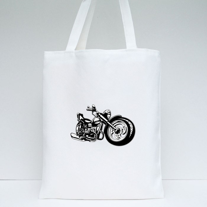 Cartoon Motorbike Tote Bags