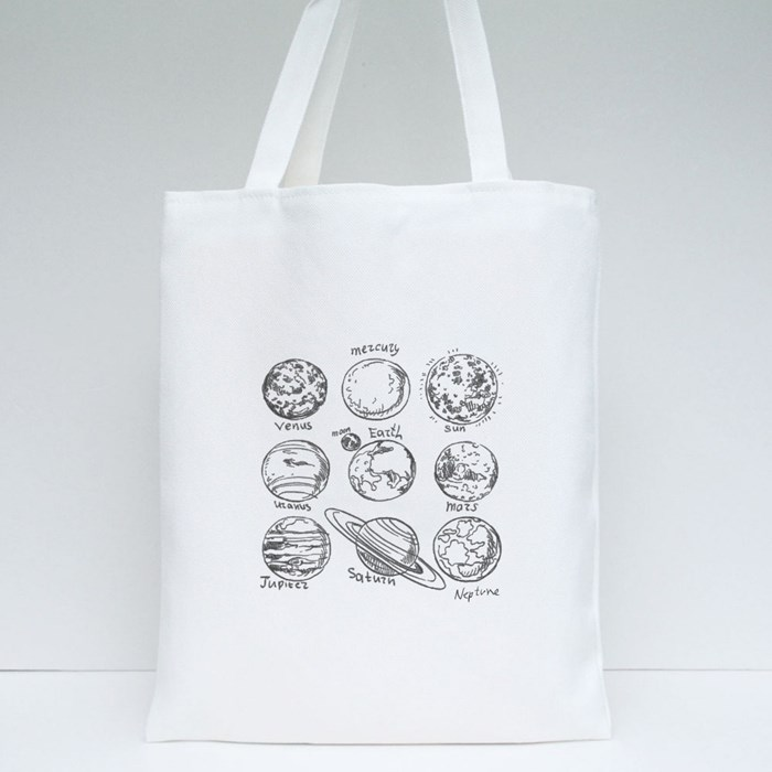 Doodle Planets Tote Bags